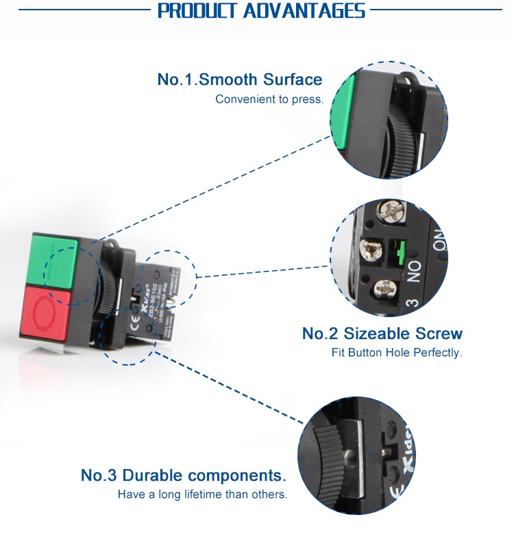 DB2-BW8425 double Momentary Push Button Switch